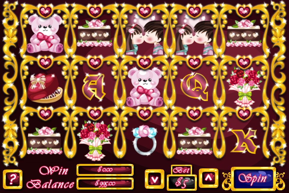 Screenshot Loving Hearts Slots – Valentine's Day Special