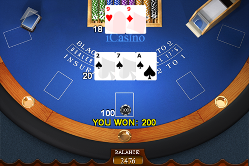 Screenshot Winner iCasino Blackjack